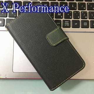 X Performance ブラック×モスグリーン ツートンカラー(Androidケース)