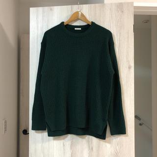ジーユー(GU)の【GU】ワッフルクルーネックセーター(ニット/セーター)