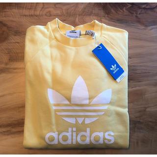 アディダス(adidas)の【Lサイズ】新品未使用タグ付き adidas トレーナー アディダス イエロー(トレーナー/スウェット)