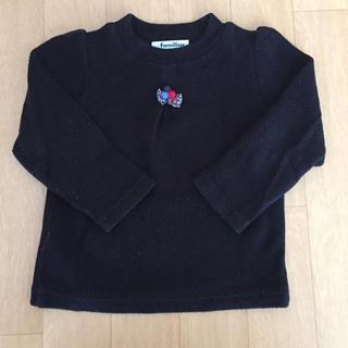 ファミリア(familiar)のファミリア familiar 黒 カットソー 90cm(Tシャツ/カットソー)