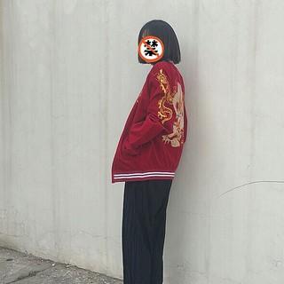 派手な龍刺繍がカッコイイ スカジャン XL (スカジャン)