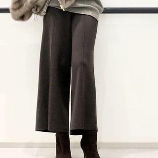 アパルトモンドゥーズィエムクラス(L'Appartement DEUXIEME CLASSE)の16日まで★  Knit cropped パンツ  ブラウン  36(クロップドパンツ)