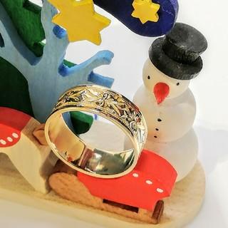 冬姫様専門てす♥️ K18YG 彫り リング(リング(指輪))