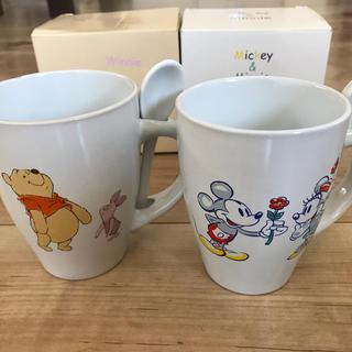 ディズニー(Disney)の【非売品 新品未使用】Disney マグカップ2個セット(グラス/カップ)