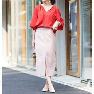 ガリャルダガランテ(GALLARDA GALANTE)の【Loungedress/ピンク】カルゼスリットスカート(ロングスカート)