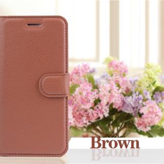 iPhone8 7手帳型ケース レザー 液晶フィルム カード入れ ブラウン(iPhoneケース)