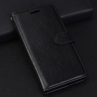 iPhone7 8 手帳型ケース レザー フィルム フォトフレーム  ブラック(iPhoneケース)