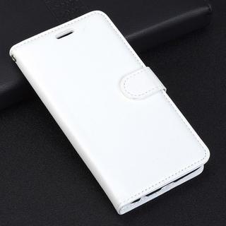 iPhone7 8 手帳型ケース レザー フィルム フォトフレーム  ホワイト(iPhoneケース)