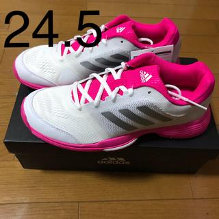 アディダス(adidas)のアディダス テニスシューズ バリケードクラブ オムニ 24.5(シューズ)