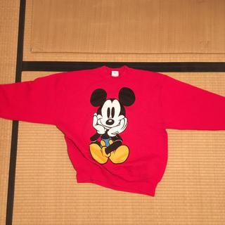ディズニー(Disney)の古着 ミッキー ロゴ スウェット トレーナー 古着MIX(トレーナー/スウェット)