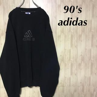 アディダス(adidas)の美品 90's adidas スウェット 刺繍ロゴ ビッグシルエット(スウェット)