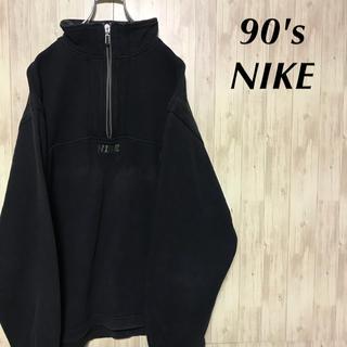 ナイキ(NIKE)の90's NIKE スウェット 刺繍ロゴ ハーフジップ  プルオーバー (スウェット)