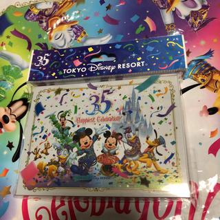 ディズニー(Disney)の35周年 メモ ディズニー キャラクター勢揃い ミッキー ミニー(ノート/メモ帳/ふせん)