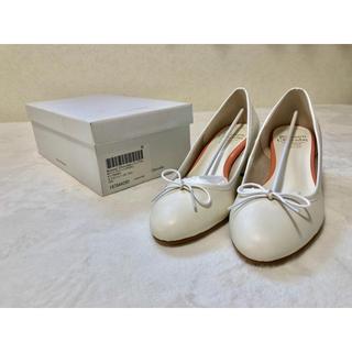 repetto - 美品 パンプス バレエシューズ ウェディング ブライダル 白 ホワイト フレンチ