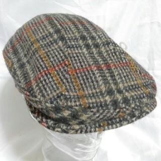 ニューヨークハット(NEW YORK HAT)のNEW YORK HAT ツイード ハンチング L/XL デッドストック(ハンチング/ベレー帽)