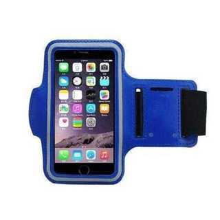 MC022 防水 スポーツアームバンド iPhone8 7 6 対応◆青(リュック/バックパック)