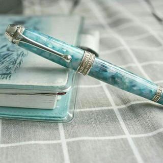 アウロラ(AURORA)の美品 ! AURORA 万年筆アイスブルー(ペン/マーカー)