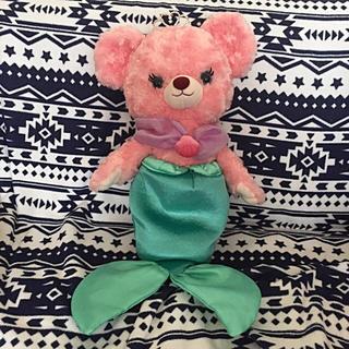 ディズニー(Disney)の美品ディズニープリンセスベアマーメイド人魚人形ぬいぐるみ(ぬいぐるみ/人形)