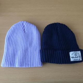 スリーコインズ(3COINS)のニット帽 2つセット(ニット帽/ビーニー)