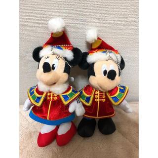 ディズニー(Disney)のディズニークリスマス2013 ミキミニ ぬいぐるみバッジ(ぬいぐるみ)