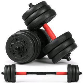 ◆大特価◆2WAY ダンベル&バーベル両方になる20kgセット♪(トレーニング用品)