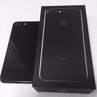 iPhone - 美品 sim解除済み iPhone 7 plus 128 ジェットブラック