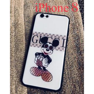 ディズニー(Disney)のiPhone8ケース  ミッキー  グレー(iPhoneケース)