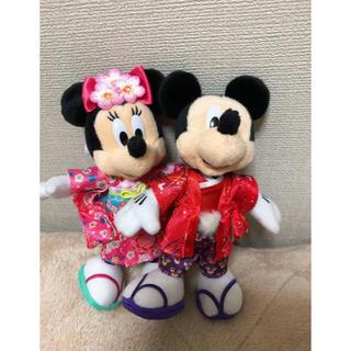 ディズニー(Disney)のお正月ディズニー2014 ミキミニ ぬいぐるみバッジ(ぬいぐるみ)