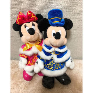 ディズニー(Disney)のディズニークリスマス2012 ミキミニ ぬいぐるみバッジ(ぬいぐるみ)