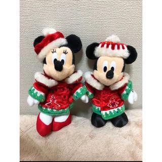 ディズニー(Disney)のディズニークリスマス2012 ミキミニ ぬいぐるみバッジ(キャラクターグッズ)
