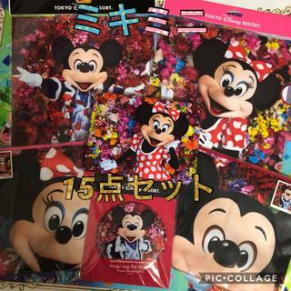 ディズニー(Disney)の【新品・未使用】ディズニー  実写  ミッキー  ミニー  15点セット(キャラクターグッズ)