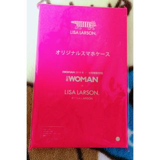 リサラーソン(Lisa Larson)の日経woman 付録 リサラーソン スマホケース 手帳型ケース(モバイルケース/カバー)