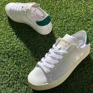 アディダス(adidas)の美品23 adidas アディダス コートバンテージ 白緑A38(スニーカー)