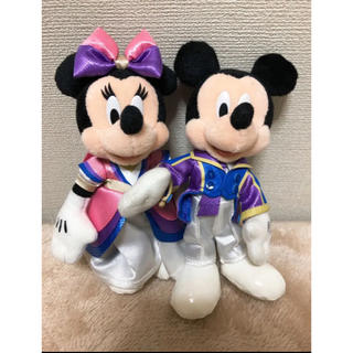 ディズニー(Disney)のディズニーバレンタインナイト ミキミニ ぬいぐるみバッジ(ぬいぐるみ)