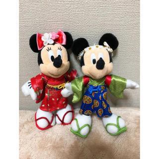 ディズニー(Disney)のお正月ディズニー2013 ミキミニ ぬいぐるみバッジ(ぬいぐるみ)