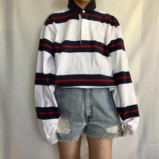 古着 90s ビッグボーダーポロシャツ