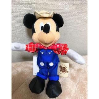 ディズニー(Disney)のディズニーランド33周年 農夫 ミッキー ぬいぐるみバッジ(ぬいぐるみ)