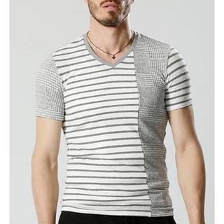 ダブルジェーケー(wjk)の数回着用9720円17SS wjk パッチワークTシャツ AKMジュンハシモト(シャツ)