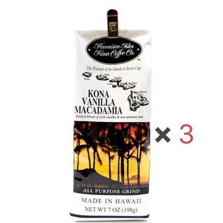 コナ(Kona)のHawaii kona バニラマカダミア×3(コーヒー)