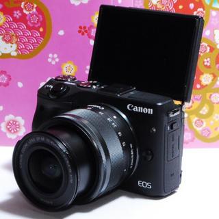 Canon - ★Wi-Fi搭載で自撮&スマホ転送OK★キヤノンEOSM3 レンズキット♪★