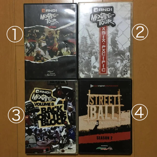 アンドワン(And1)のAND1 MIX TAPE DVD4本セット&バラ売りもOK 中古(その他)
