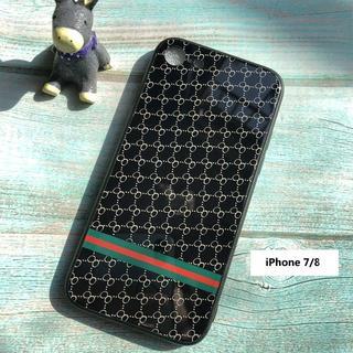 iPhone7/8 ケース ブラック  モノグラム柄 (iPhoneケース)