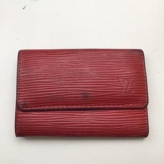 ルイヴィトン(LOUIS VUITTON)のヴィトン VITONN エピ キーケース 赤 レッド レザー 正規品 LV(キーケース)