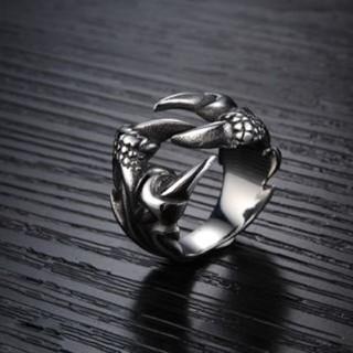 特価高品質!メンズのステンレスリング(爪) ゴシック、V系のワンポイント(リング(指輪))