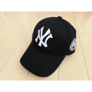定番 大人気 NYキャップ黒 ベースボールキャップ 野球帽 ヤンキース(キャップ)