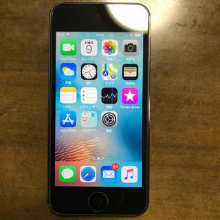 アイポッドタッチ(iPod touch)のiPod touch 第6世代 スペースグレイ 16GB 美品(ポータブルプレーヤー)