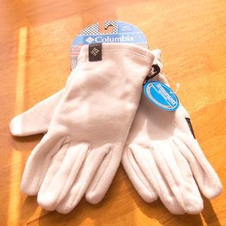 コロンビア(Columbia)の【新品】コロンビア 手袋 白 レーディス XL オムニヒート(手袋)