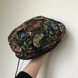 花柄ベレー帽(ハンチング/ベレー帽)