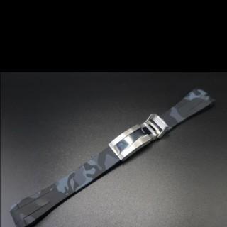 ラバーベルト 迷彩 ラグ幅20mm ロレックス Rolex対応(ラバーベルト)