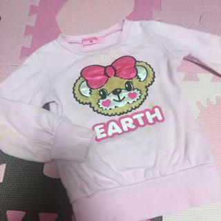 アースマジック(EARTHMAGIC)のbackリボンロングトレーナー♡110size(Tシャツ/カットソー)